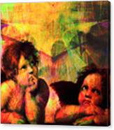 The Sistine Modonna Baby Angels In Abstract Space 20150622 Canvas Print