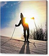 The Skier Canvas Print