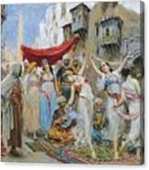 The Slave Market Canvas Print