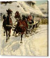 The Sleigh Ride Canvas Print