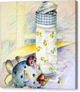 The Smoking Fish Canvas Print