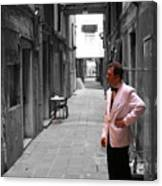 The Smoking Man In Venice Canvas Print