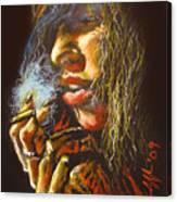 The Smoking Senorita Canvas Print