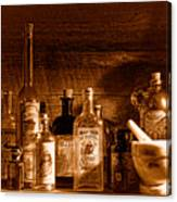 The Snake Oil Shop - Sepia Canvas Print