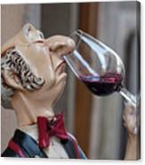 The Snooty Wine Sniffer Canvas Print