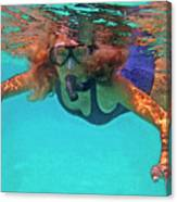 The Snorkeler Canvas Print