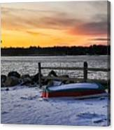The Snow Boat Canvas Print
