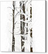 The Snow Just Won't Stop Canvas Print
