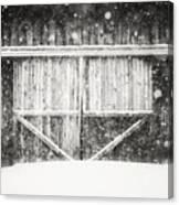 The Snowy Barn II Canvas Print