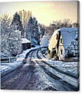 The Snowy Cottages Canvas Print