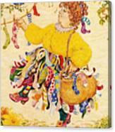 The Sock Lady Canvas Print