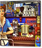 The Soda Fountain Canvas Print