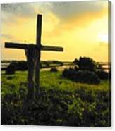 The Son And Sunset Canvas Print