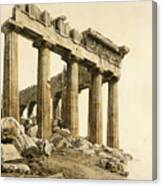 The South-east Corner Of The Parthenon. Athens Canvas Print
