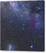The Southern Sky And Milky Way Canvas Print