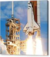 The Space Shuttle Discovery And Its Seven Canvas Print