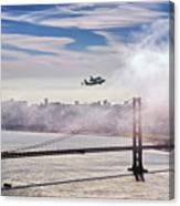 The Space Shuttle Endeavour Over Golden Gate Bridge 2012 Canvas Print