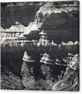 The Spectacular Grand Canyon Bw Canvas Print
