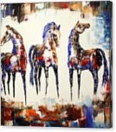The Spirit Of Texas Horses Canvas Print
