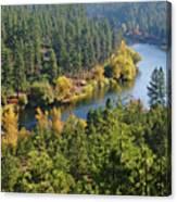The Spokane River  Canvas Print
