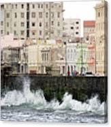 The Spume At Malecon Canvas Print