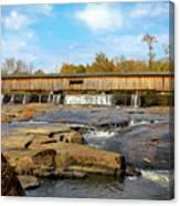 The Square Dance Venue Watson Mill Covered Bridge Canvas Print