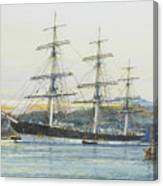The Square-rigged Australian Clipper Old Kensington Lying On Her Mooring Canvas Print