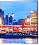 Ohio Pill Box Mustache Overlooks Stadium Canvas Print