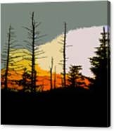 The Stained Glass Forest Canvas Print