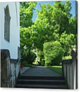 the stairs behind the Gottstatt Monastery church Canvas Print