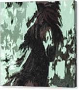 The Stallion At Aztec Canvas Print