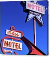 The Star Motel Canvas Print