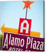 The Star Of Alamo Plaza Canvas Print