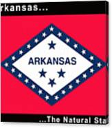 The State Flag Of Arkansas Canvas Print