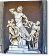 The Statue Of Laocoon And His Sons At The Vatican Museum Canvas Print