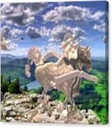 The Statue Of The Rock Canvas Print