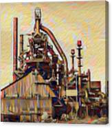 The Steel Stacks Watercolor Canvas Print