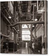 The Stegmaier Brewery Boiler Room Wilkes Barre Pennsylvania 1930's Canvas Print