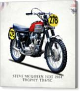 The Steve Mcqueen Isdt Motorcycle 1964 Canvas Print