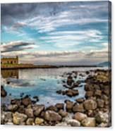The Stilled Harbour... Canvas Print