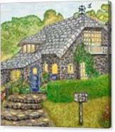 The Stone Cottage  Canvas Print