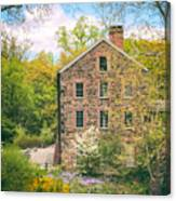 The Stone Mill In Spring Canvas Print
