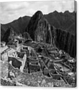 The Stonework Of Machu Picchu Canvas Print
