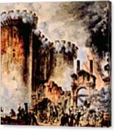 The Storming Of The Bastille, Paris Canvas Print