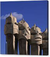 The Strangely Shaped Rooftop Chimneys Canvas Print