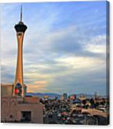 The Stratosphere In Las Vegas Canvas Print