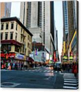The Streets Of New York Canvas Print
