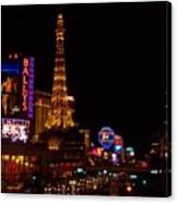 The Strip At Night 1 Canvas Print