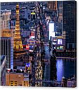 the Strip at night, Las Vegas Canvas Print