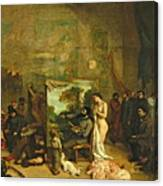 The Studio Of The Painter, A Real Allegory Canvas Print